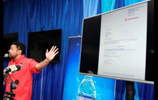 Shaggy shows a bank statement reflecting more than $112 million being held in a Scotiabank account.