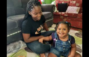 Rennae Edwards and her daughter D'jhanae.